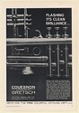 1963 Gretsch Couesnon Paris Made Trumpet Clean Brilliance Print Ad