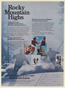 1973 United Airlines Ski The Rockies Rocky Mountain Highs Skiing Print Ad