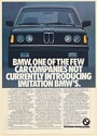 1982 BMW 320i One of Few Car Companies Not Currently Introducing Imitation Ad