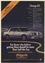 1982 Oldsmobile Omega ES Getting There Should be More Than Half the Fun Print Ad