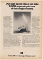 1982 Northrop Aircraft Testing Kodak High-Speed Video Print Ad
