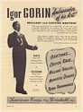1951 Igor Gorin Baritone Photo Booking Print Ad