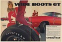 1969 Goodyear Wide Boots GT Tires Dodge Charger Hemi 2-Page Print Ad