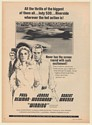 1969 Paul Newman Joanne Woodward Robert Wagner Winning Movie Opening Print Ad