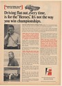 1969 Mark Donohue Roger Penske Fram Filters Talks to Racing Experts Print Ad
