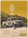 1969 Datsun Pickup Truck Went to Baja Mexican 1000 Race Print Ad