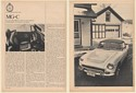 1969 MG-C Road Test Specifications 4-Page Article