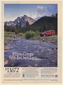 1993 Jeep Cherokee 4x4 It Even Comes with Its Own Lure Man Fishing Print Ad
