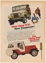 1965 Jeep V-6 Funpower Flying Universal Snow Sledding Print Ad