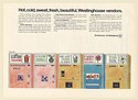 1968 Westinghouse Vending Machines Coffee Cold Drink Candy Milk Trade Print Ad