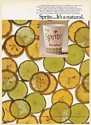 1968 Sprite Soda It's a Natural Lemons Limes Paper Cup Vending Trade Print Ad