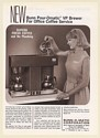 1968 Bunn Pour-Omatic VP Coffee Brewer Vending Trade Print Ad