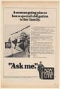 1981 Woman Going Places Helicopter New York Life Insurance Agent Ask Me Print Ad