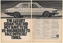 1981 BMW 528i Luxury Sedan Did Not Have to be Re-Engineered 2-Page Print Ad