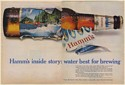 1967 Hamm's Beer Bottle Inside Story Water Best for Brewing Double-Page Print Ad