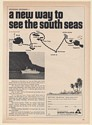 1971 Westours M.V. West Star Cruise Ship New Way to See the South Seas Print Ad