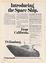 1971 TS Hamburg Introducing The Space Ship Cruise Holland America Line Print Ad