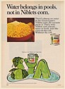 1971 Jolly Green Giant Niblets Corn Water Belongs in Pools Not in Corn Print Ad