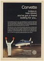 1977 Aerospatiale Corvette Business Jet Aircraft Flag Man Flagger Print Ad