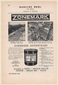 1949 Hanline Bros Zonemark Street Marking Traffic Paint Baltimore NYC Print Ad