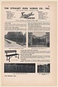 1949 Stewart Iron Works Fences 115-S Ornamental Iron Fence 52 Entrance Gate Ad