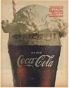 1966 Coke Coca-Cola Ice Cream Float Taste You Never Get Tired Of Print Ad
