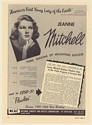 1951 Jeanne Mitchell Violinist Photo Booking Print Ad