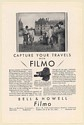 1930 Bell & Howell Filmo 70-D Personal Movie Camera Summer Sussex Down Print Ad