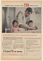 1954 Dad Bathing Twin Babies United of Omaha Life Insurance Print Ad