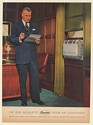 1954 Carrier Silhouette Room Air Conditioner Man in Office Print Ad