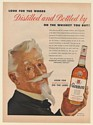 1954 Glenmore Whiskey Look for the Words Distilled and Bottled By Print Ad