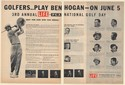 1954 Golfers Play Ben Hogan 3rd Annual Life PGA National Golf Day 2-Page Ad