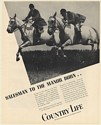 1936 Horse Riders Country Life Salesman to the Manor Born Print Ad