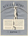 1936 Eaton Automotive Parts Silver Anniversary Achievement Archery Print Ad
