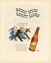 1936 White Rock Water Down with Party Lines Print Ad