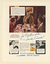 1936 Camel Cigarette for Digestion Golfer Tony Manero Bowler Johnny Murphy Ad