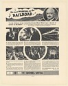 1936 C.W. Galloway B & O Baltimore and Ohio Railroad Monel Metal Print Ad