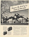 1936 Kodak Cine-Kodak K Home Movie Camera Galloping Horses Jump Fence Print Ad