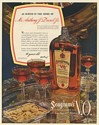 1936 Seagram's V.O. Whiskey Served in Home of Mr Anthony J Drexel Jr Print Ad