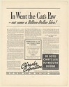 1936 Chrysler Corp In Went the Cat's Paw Eli Whitney Cotton Gin Story Print Ad