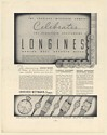 1936 Longines Wittnauer Watch Celebrates 70th Anniversary Print Ad