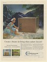 1960 Chrysler Airtemp Power King P-25 Air Conditioner Creates Climate Print Ad