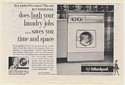 1960 RCA Whirlpool Combination Washer Dryer Model GC-50 Print Ad