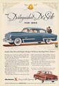 1953 De Soto World's Most Powerful Engine Design Print Ad