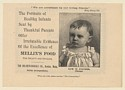 1892 Edw W Fischer Chicago Mellin's Baby Food The Doliber-Goodale Co Print Ad