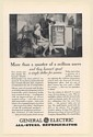 1929 GE General Electric All-Steel Refrigerator Not a Dollar for Service Ad