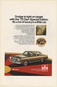 1975 Dodge Dart Special Edition Right on Target Lot of Luxury in Little Car Ad