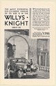 1930 Willys-Knight Great Six Sedan Most Powerful Six Cylinder Engine Print Ad