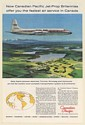 1959 Canadian Pacific Airlines Jet-Prop Britannia Fastest Air Service Print Ad