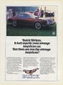 1980 Buick Riviera It Isn't Exactly Your Average American Car Print Ad